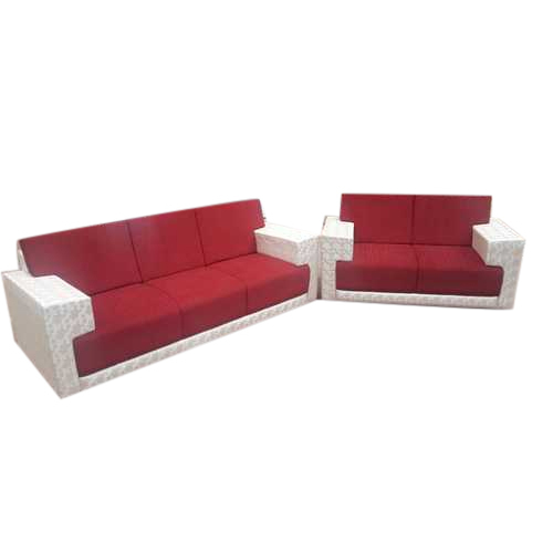 Red Fabric Modern Sofa