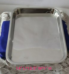 Metal Silver Stainless Steel Heavy Duty Tray, for medical and industrial use