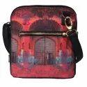 Pink Royal Door Design Crossbody Bag