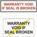 Tamper Proof Or Void Label