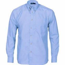 Plain Cotton Mens Shirt, Size: S - XXL