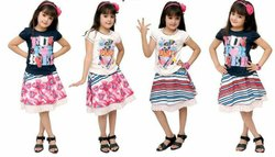 Western Casual Wear Skirts Tops for Girls