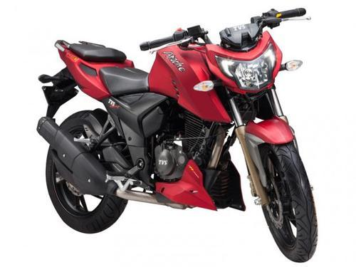 Red Tvs Apache Rtr 200 4v Motorcycle Best Buy Store
