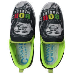 Casual PVC Printed Moccasin Shoes