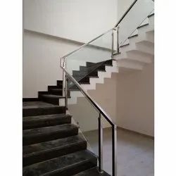 Staircase SS Glass Railing
