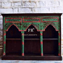 Distressed Hand Painted Cabinet for Resort & Hotel Lobbies