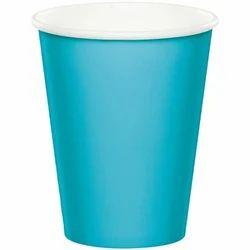 Blue Plain Disposable Paper Glass