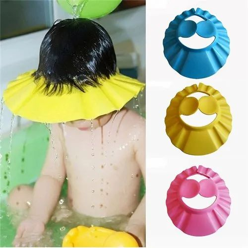 1-5 Multicolor Baby Bath Shower Cap