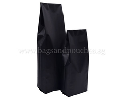 Matt Black Side Gusset Bags