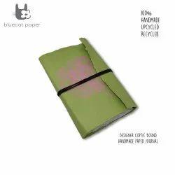 Designer Green Coptic Bound Handmade Paper Book