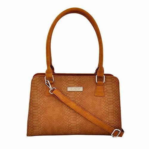 6d0dbe910167 Erica Brown Plain Ladies PU Bags