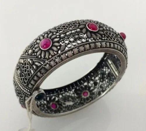 Fancy 925 Oxidised Silver Bangle Insha Jewellery Mumbai Id