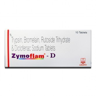 Zymoflam D Trypsin Bromelain Rutoside Trihydrate and Diclofenac Sodium  Tablets, Packaging Type: Box, Rs 30 /unit | ID: 20408524973