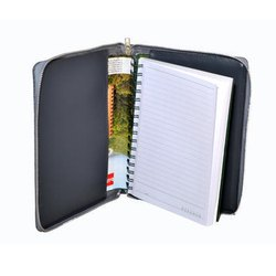 Dark Grey Leather Cover Notepad Holder