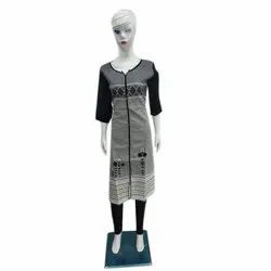 Straight 3/4th Sleeve Ladies Party Wear Printed Kurti, Machine wash, Size: S-XXL