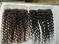 Indian Virgin Unprocessed Temple Raw Hair Lace Frontal