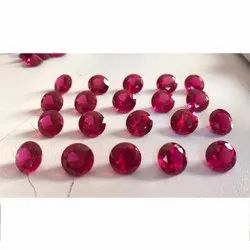 Ruby Cubic Zirconia Gemstone