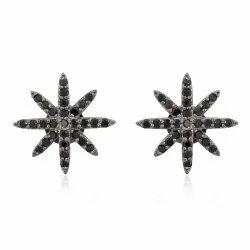 Spinel Starburst Stud Earrings