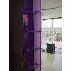 13 Inch Corner Glass Shelf
