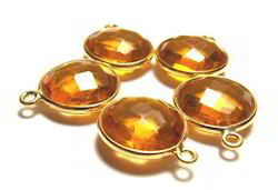 Round Citrine Connectors