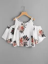 Ladies Sleeveless Casual Wear Printed Tops