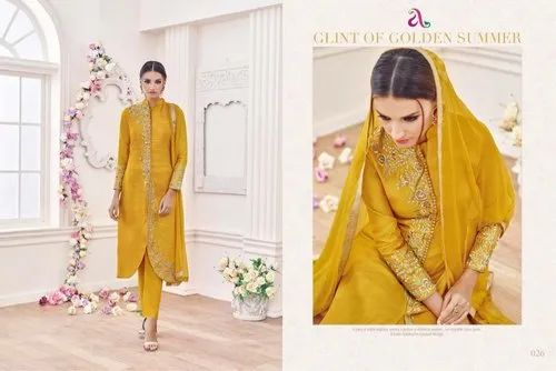 e16c8ef1ca Angroop Plus Semi-Stitched Yellow Suits, Size: XL, Rs 499 /piece ...