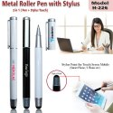 Metal Roller Pen With Stylus H-226