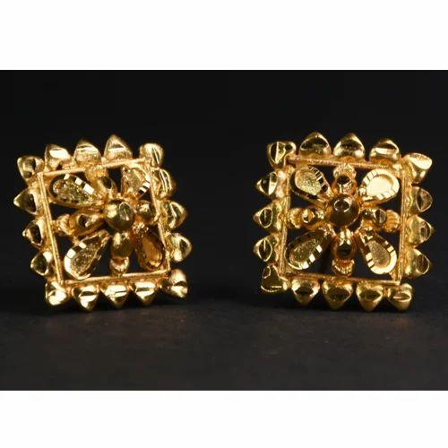 24k Gold Plated Stud Earrings