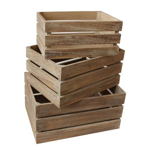 Square and Rectangular Wooden Storage Crates