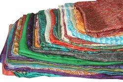Indian Vintage Women's Pure Silk Sari Ethnic Craft Recycled Fabric