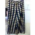 Poly Shantoon Gold Print Fabric