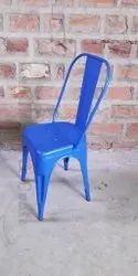 Blue Kartik Art And Crafts Tolix Chair, Seating Capacity: 200 Kg Per Person, Size: 14 X 14 X 18 Inches