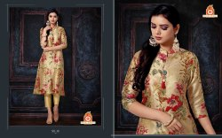 Beige Non-Stretchable Stylish Kurti