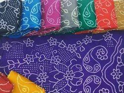 Cotton Blend Regular Wear Bandhani Dress Material