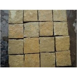 Yellow Cobble Granite Stone