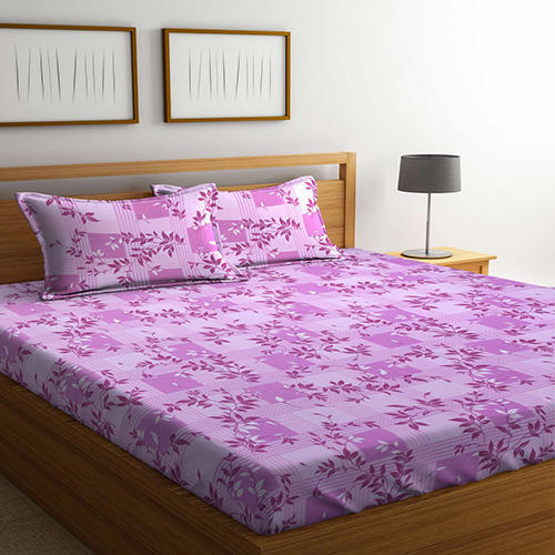 0a6b11d58 Bombay Dyeing Cynthia 120 TC Polycotton Double Bedsheet with 2 Pillow  Covers - Pink