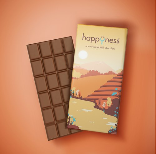 Bar Happyness Artisanal Couverture Milk Chocolate
