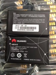 Black Huawei HB5A2 Battery, Battery Capacity: 1000 Mah (3.7 Wh), Voltage: 220