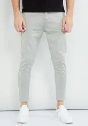 Formal Wear Button Office Wear Denim Jeans
