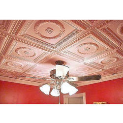 Square Decorative PVC Ceiling Tile, For Celing, Coated