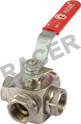 Screwed Ends Stainless Steel 3 Way Ball Valves