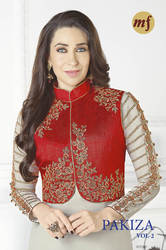 Georgette Unstitched Suits with Koti