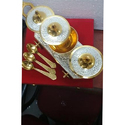Silver & Gold Plated Mix 3 Trolley With Spoons