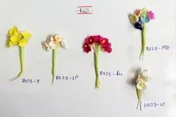 Mini Paper Flowers with Stem for Craft, Decor, Painting, Packing, Raw Material, Bunch of 6 Flowers