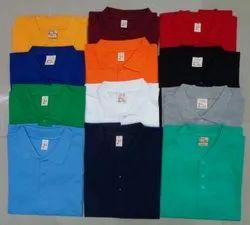 Cotton Plain Mens Polo Tshirt, Size: S-XL