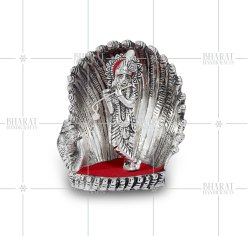 Silver Plated Krishna With Flute