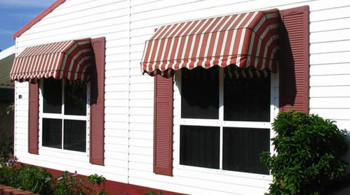 Stripped White And Red Window Awning, Rs 400 /square feet BSS Technologies  | ID: 20447199833
