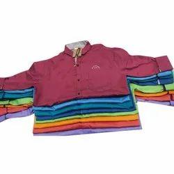 Cotton Plain Mens Two Tone Shirt