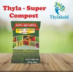 Powder Controlled Organic Bio Fertilizer (Thyla-Super Compost), Packaging Type: Pp Bag, Packaging Size: 50 Kg