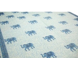 Sanganeri Hand Block Printed Cotton Fabric Bed Cover